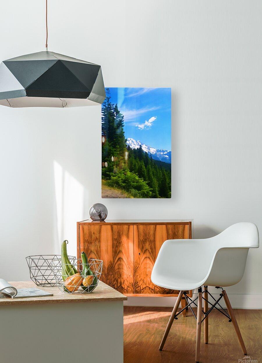 washington state mountains  HD Metal print with Floating Frame on Back