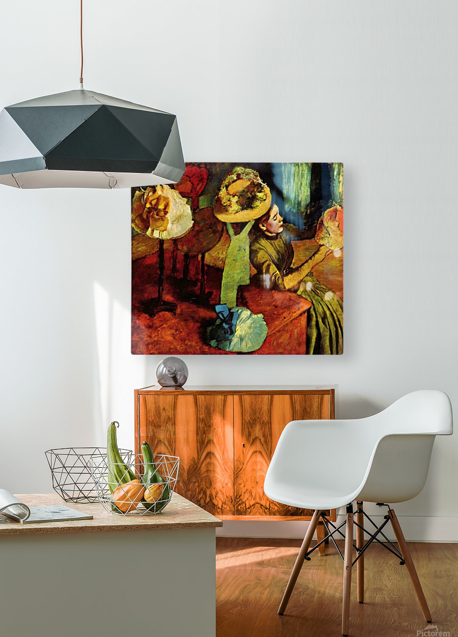The fashion shop by Degas  HD Metal print with Floating Frame on Back