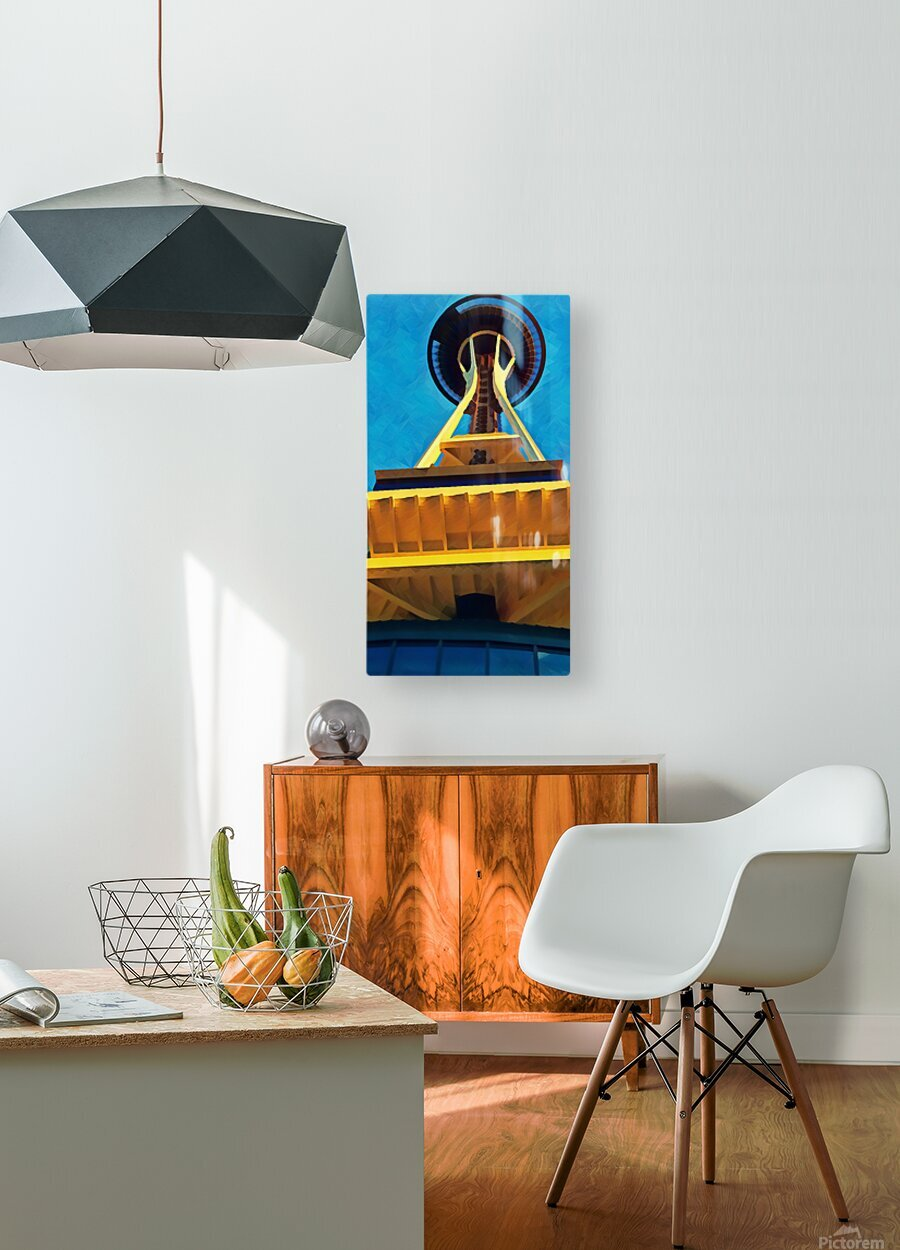 seattle space needle abstract  HD Metal print with Floating Frame on Back