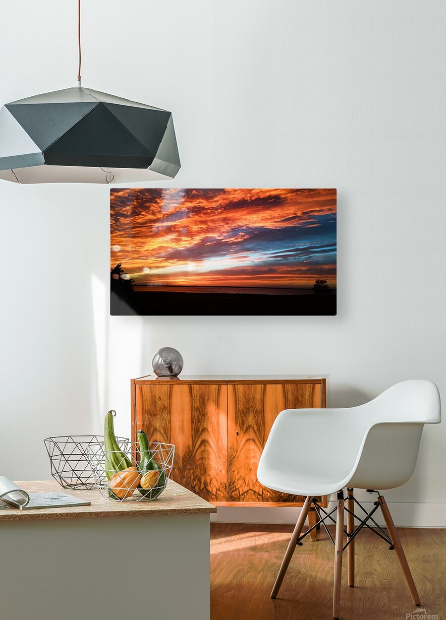 majestic sky  HD Metal print with Floating Frame on Back