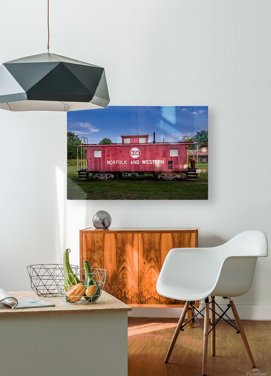 Norfolk & Western Caboose  HD Metal print with Floating Frame on Back