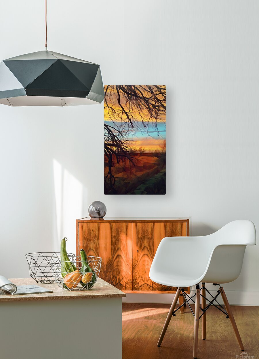 winter blast  HD Metal print with Floating Frame on Back