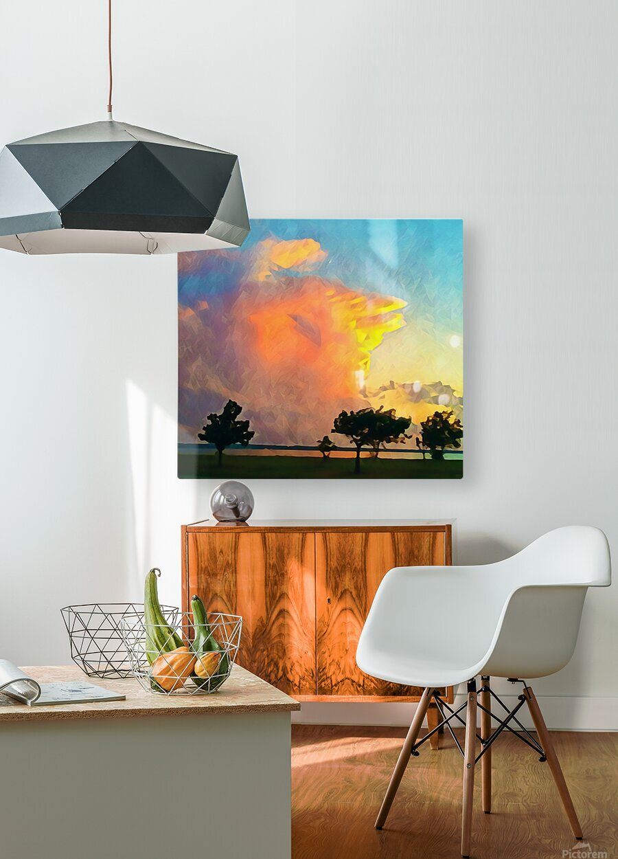 thunder cloud  HD Metal print with Floating Frame on Back