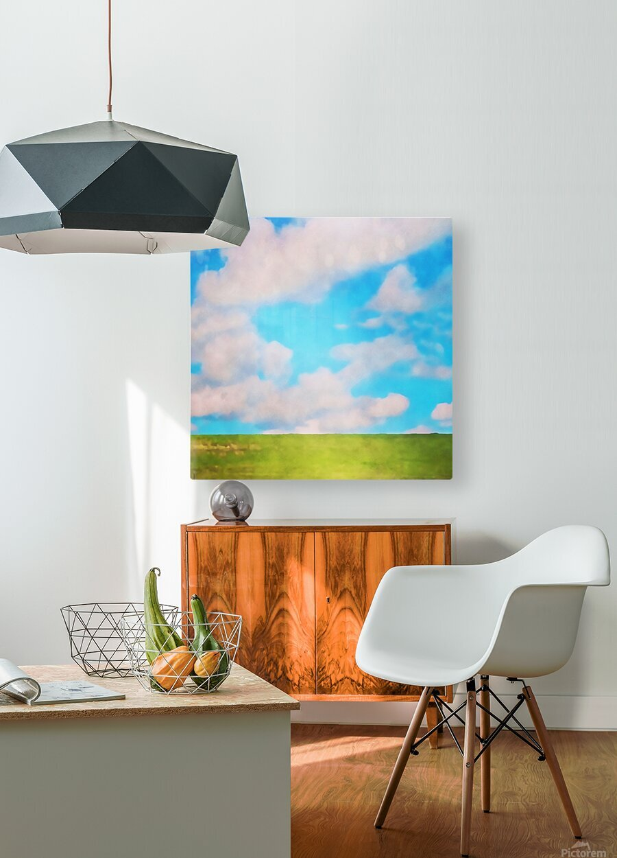fluffy afternoon  HD Metal print with Floating Frame on Back