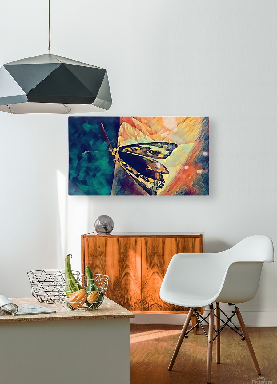 butterfly art  HD Metal print with Floating Frame on Back