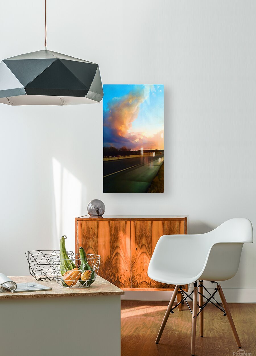 highway beauty  HD Metal print with Floating Frame on Back