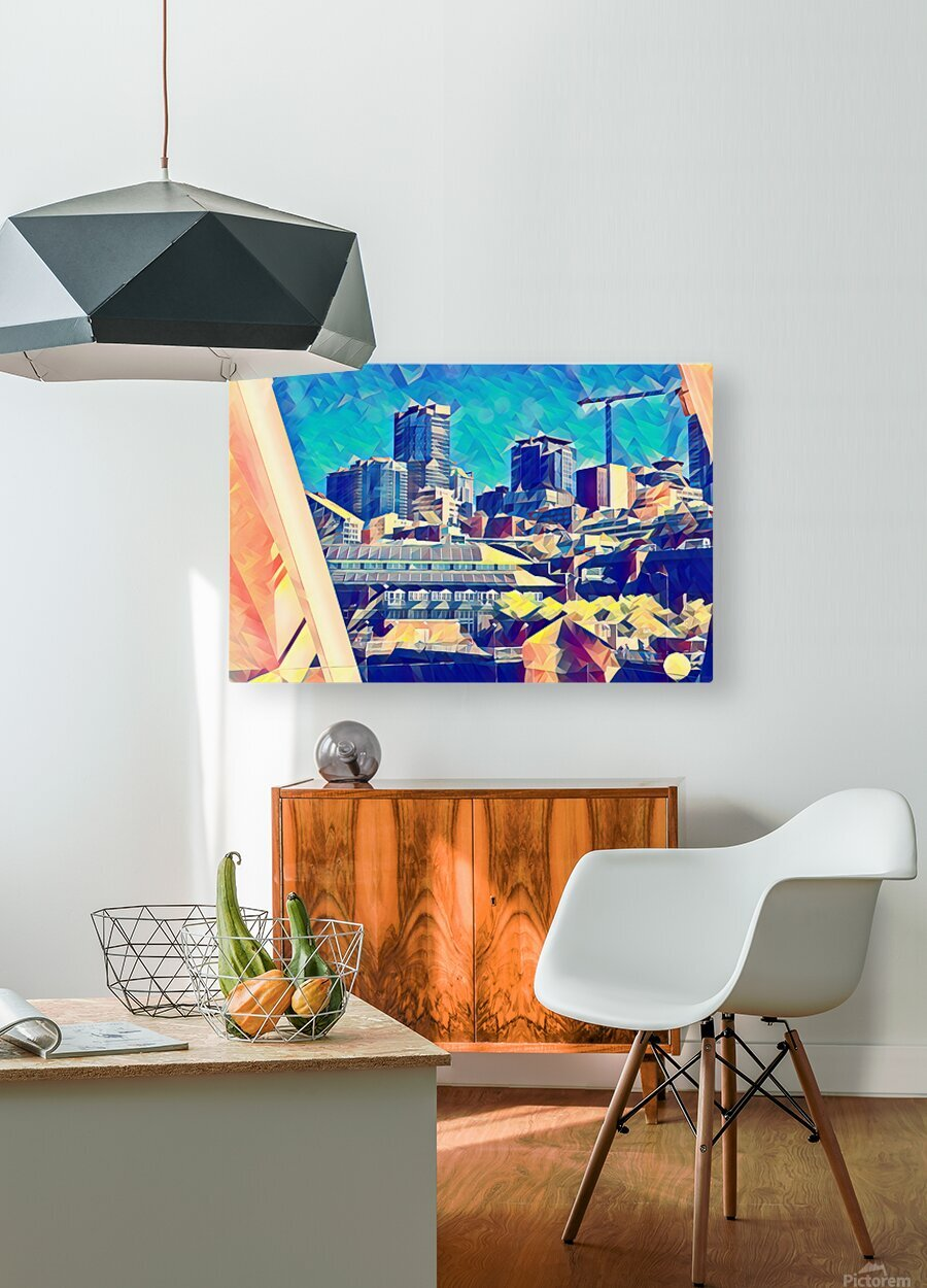seattle under construction  1   HD Metal print with Floating Frame on Back