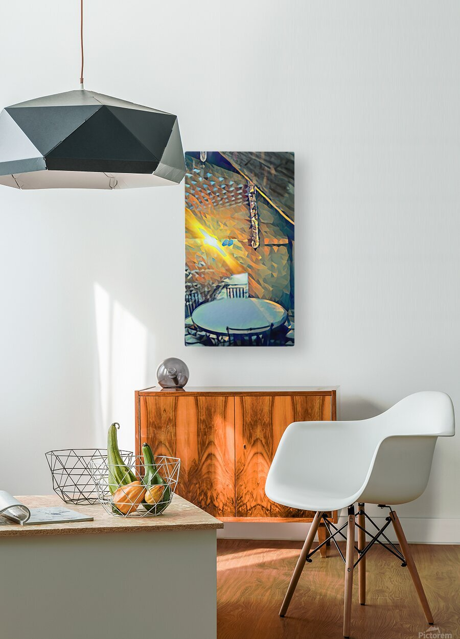 winter morning  HD Metal print with Floating Frame on Back