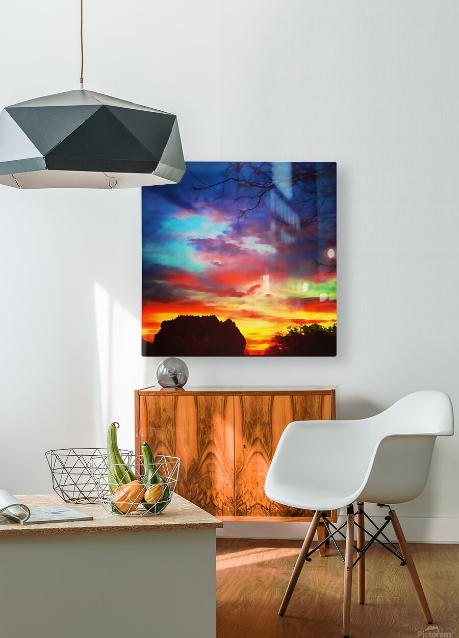 Bounty of Color  HD Metal print with Floating Frame on Back