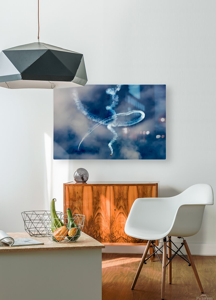 Death Spiral   HD Metal print with Floating Frame on Back