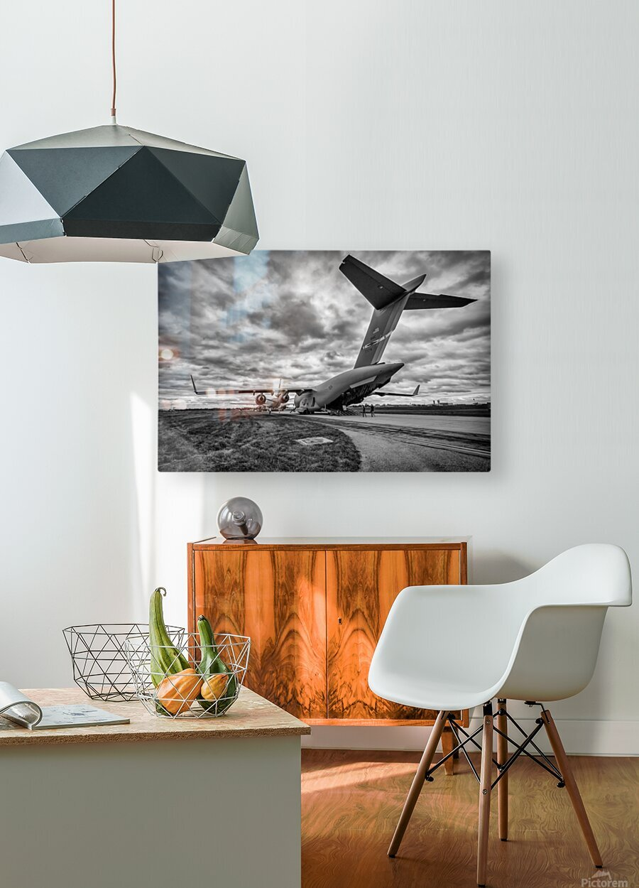 C 17 Globemaster  HD Metal print with Floating Frame on Back