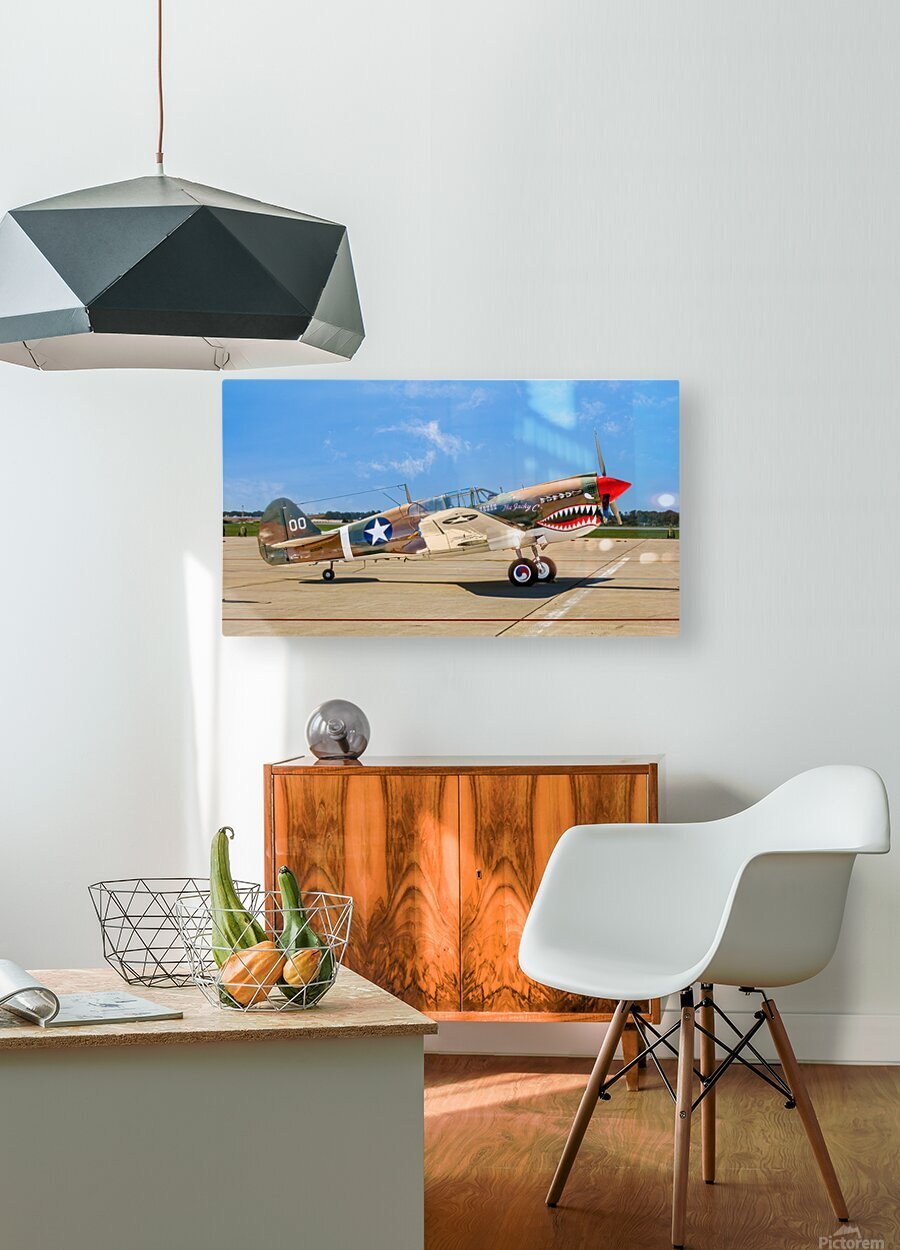 P 40 Warhawk  HD Metal print with Floating Frame on Back