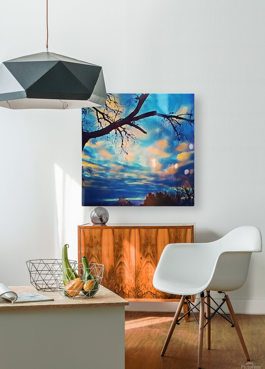 broken beauty  HD Metal print with Floating Frame on Back