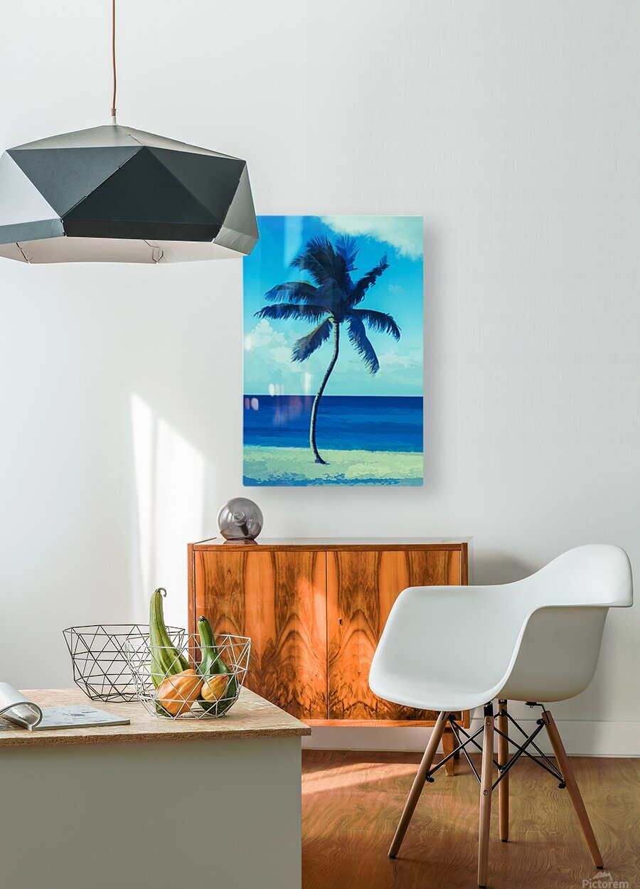 palm color 6  HD Metal print with Floating Frame on Back