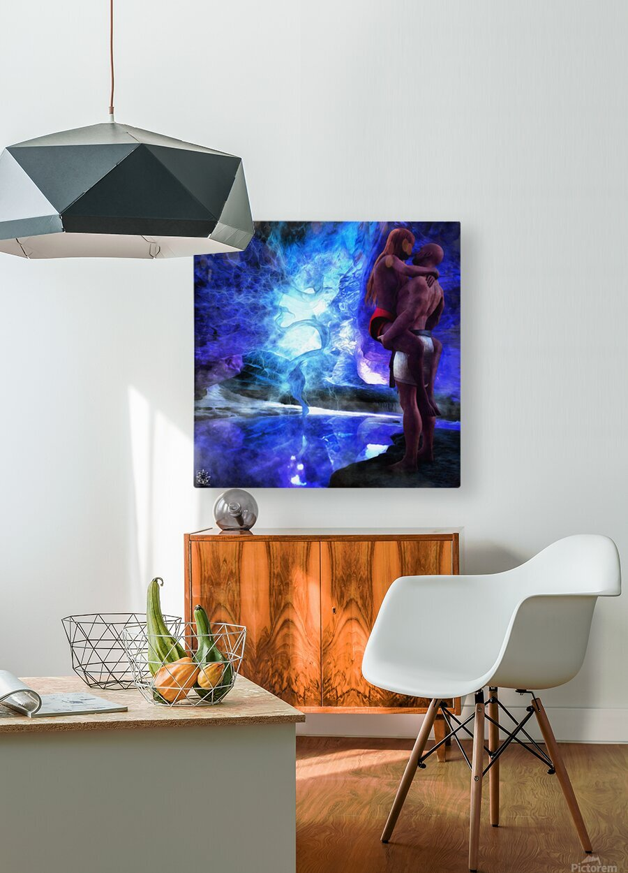 The Lovers Pool  HD Metal print with Floating Frame on Back