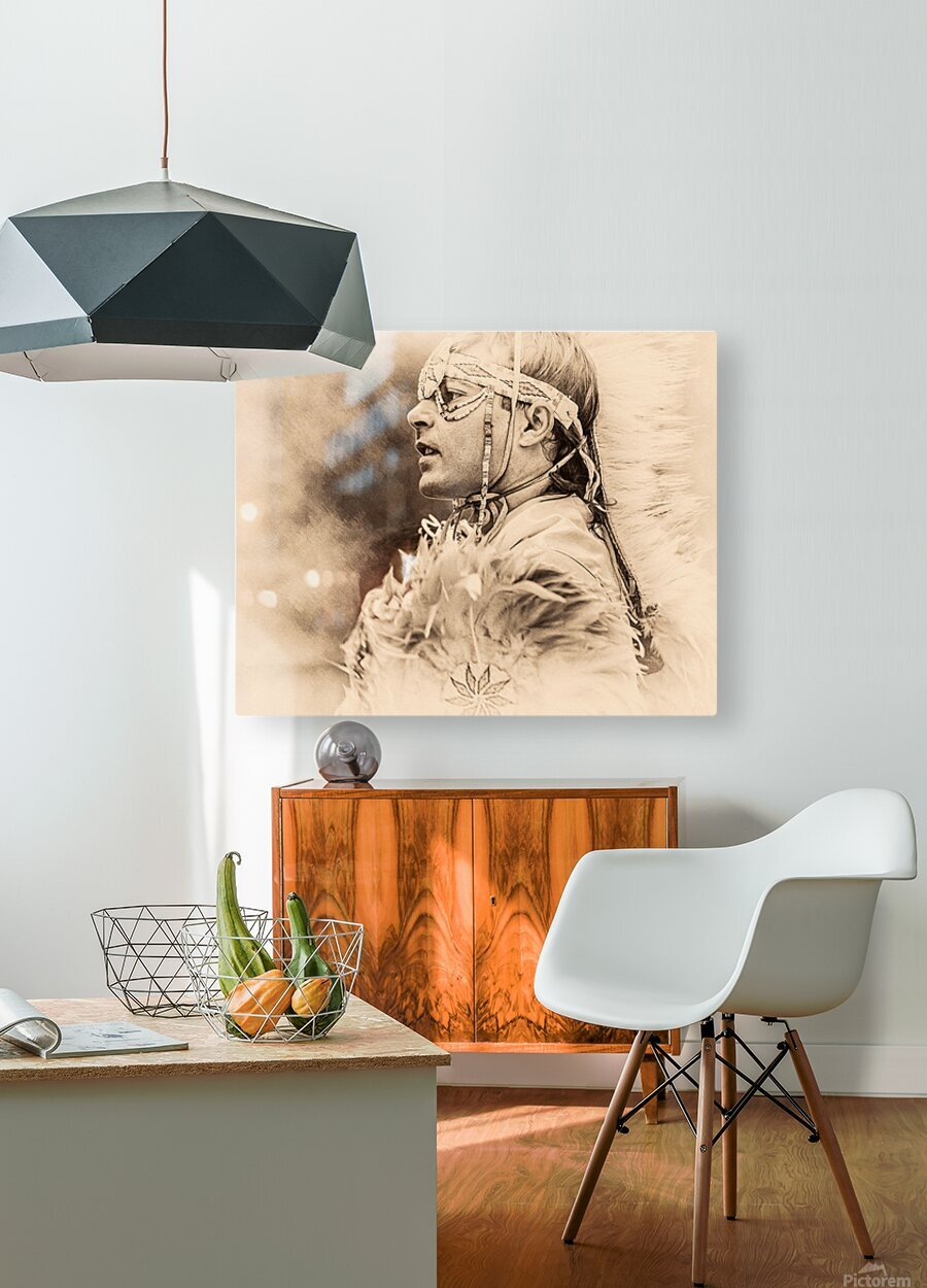 Native American 6  HD Metal print with Floating Frame on Back
