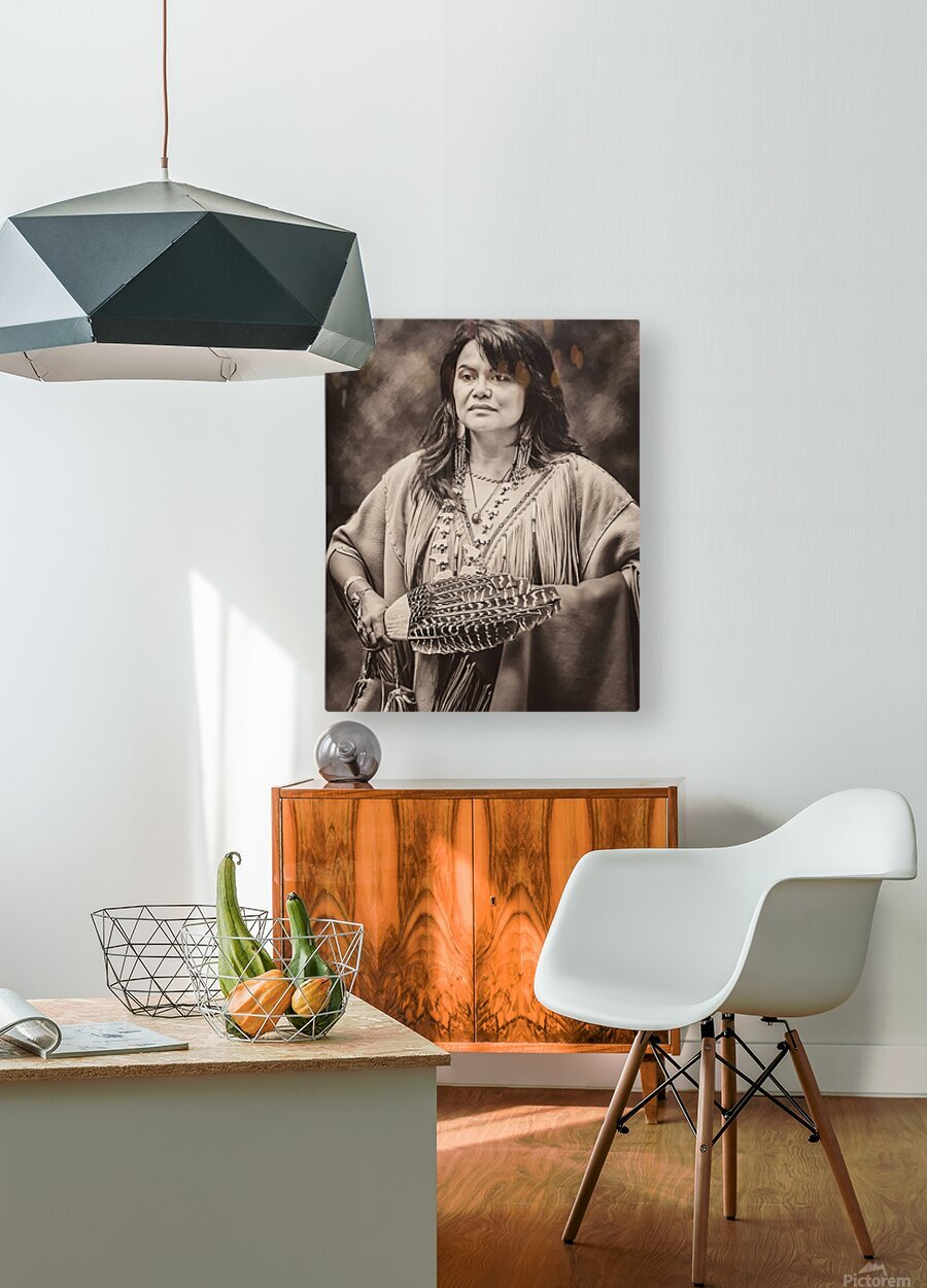 Native American 5  HD Metal print with Floating Frame on Back