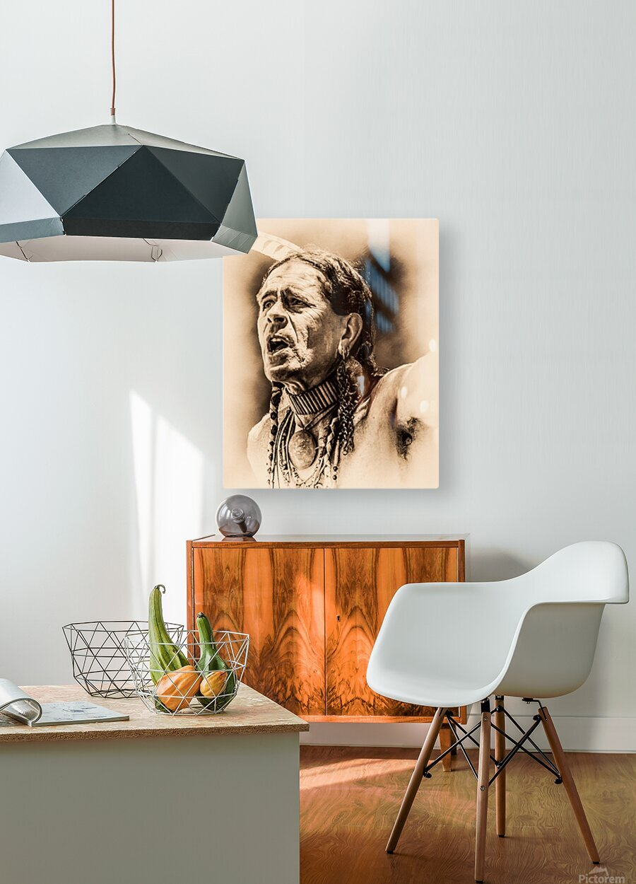 Native American 15  HD Metal print with Floating Frame on Back