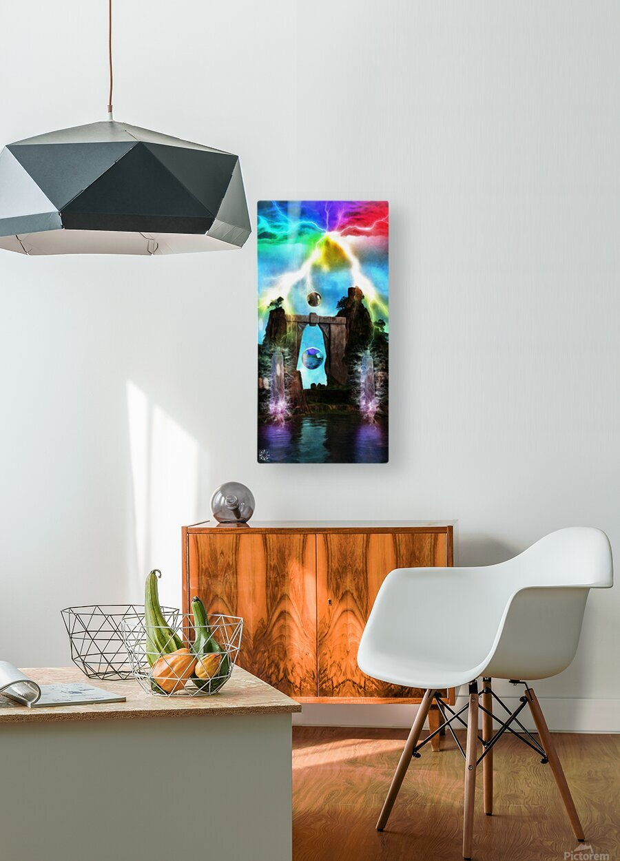 The Tesla Conduit  HD Metal print with Floating Frame on Back