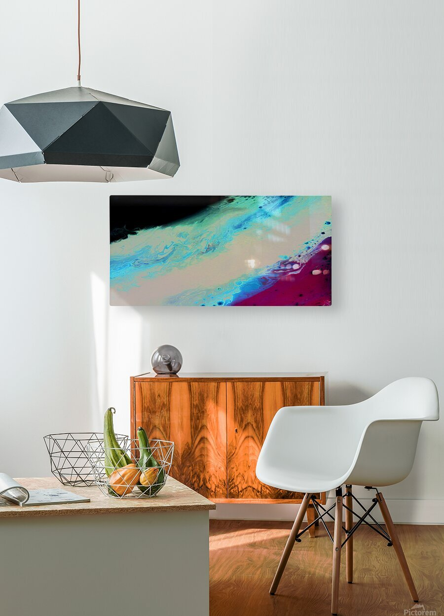 Geode II  HD Metal print with Floating Frame on Back