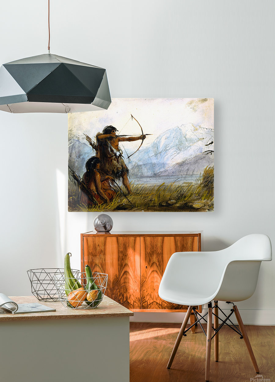 Children of the Snake Tribe  HD Metal print with Floating Frame on Back