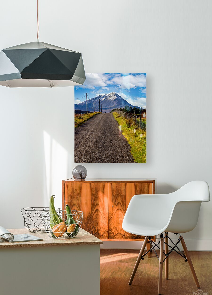 Errigal 1  HD Metal print with Floating Frame on Back