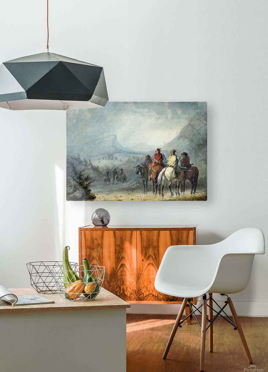 Storm - Waiting for the Caravan  HD Metal print with Floating Frame on Back