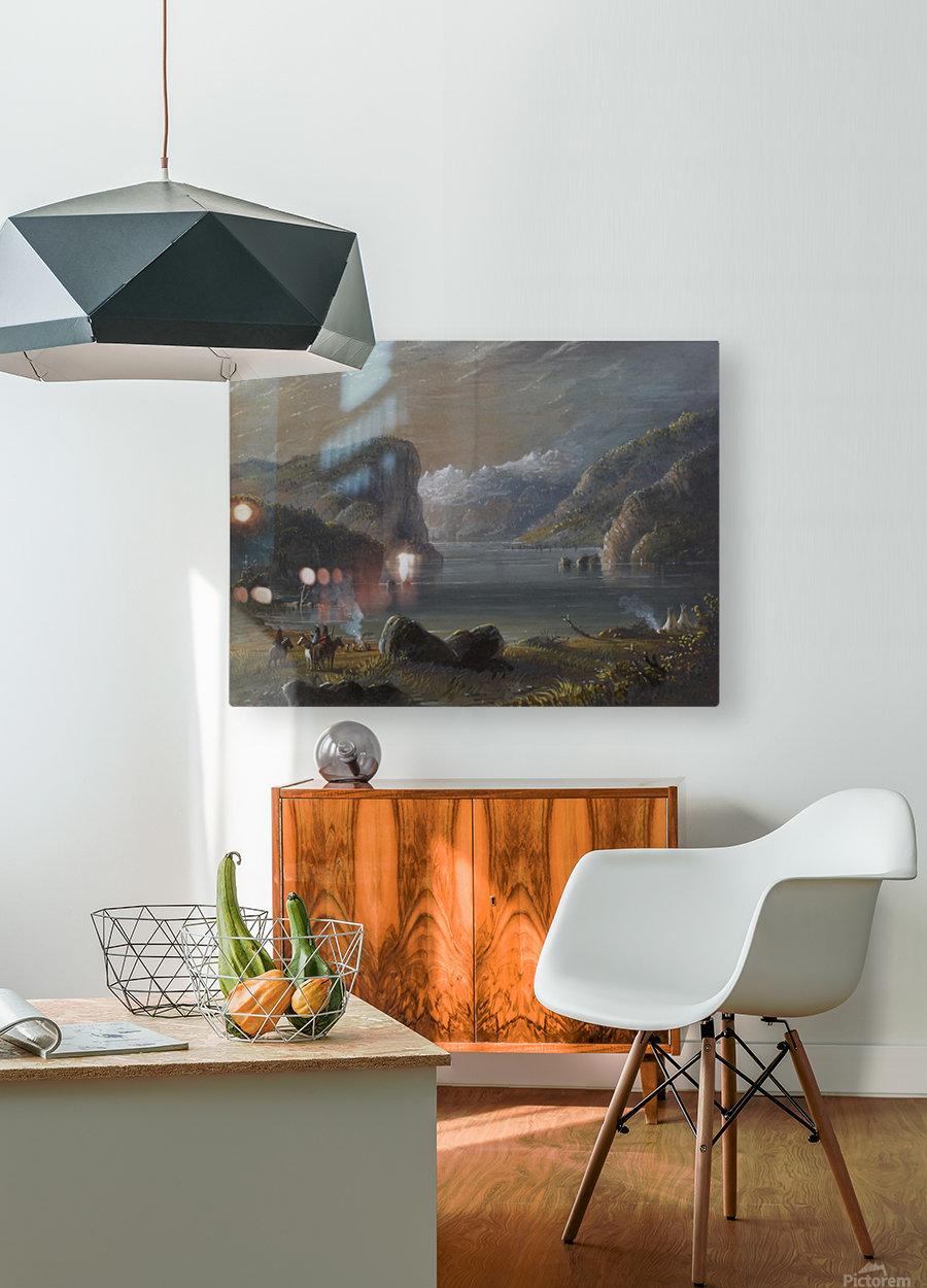 Lake Scene  HD Metal print with Floating Frame on Back