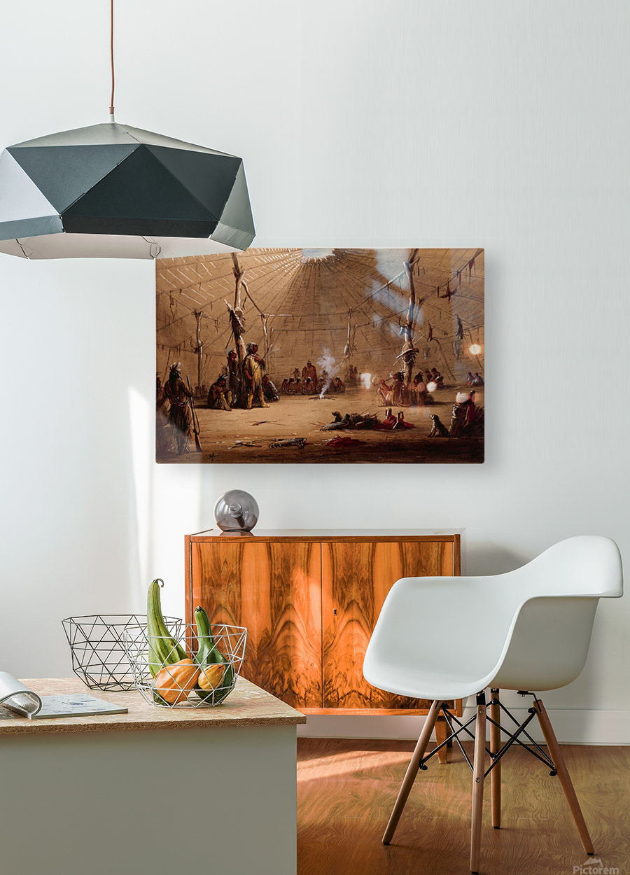 Indian Lodge  HD Metal print with Floating Frame on Back