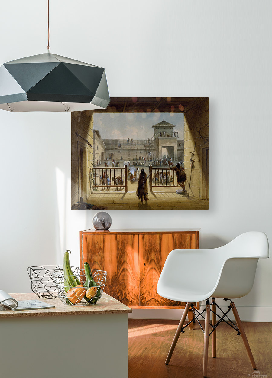 Interior of Fort Laramie  HD Metal print with Floating Frame on Back