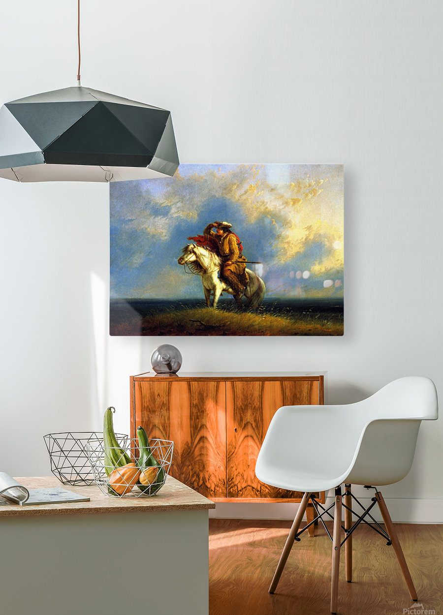 The lost greenhorn  HD Metal print with Floating Frame on Back