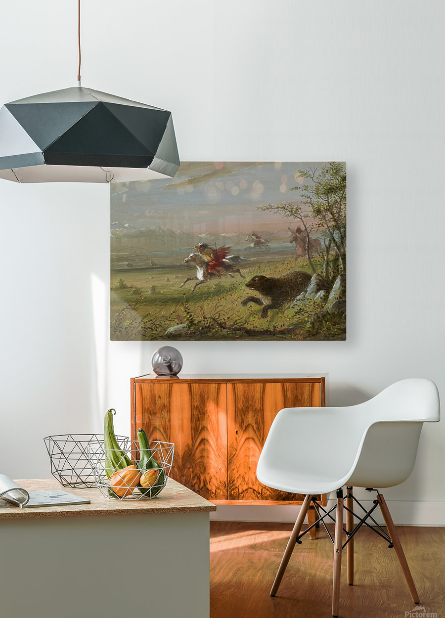 The Grizzly Bear  HD Metal print with Floating Frame on Back