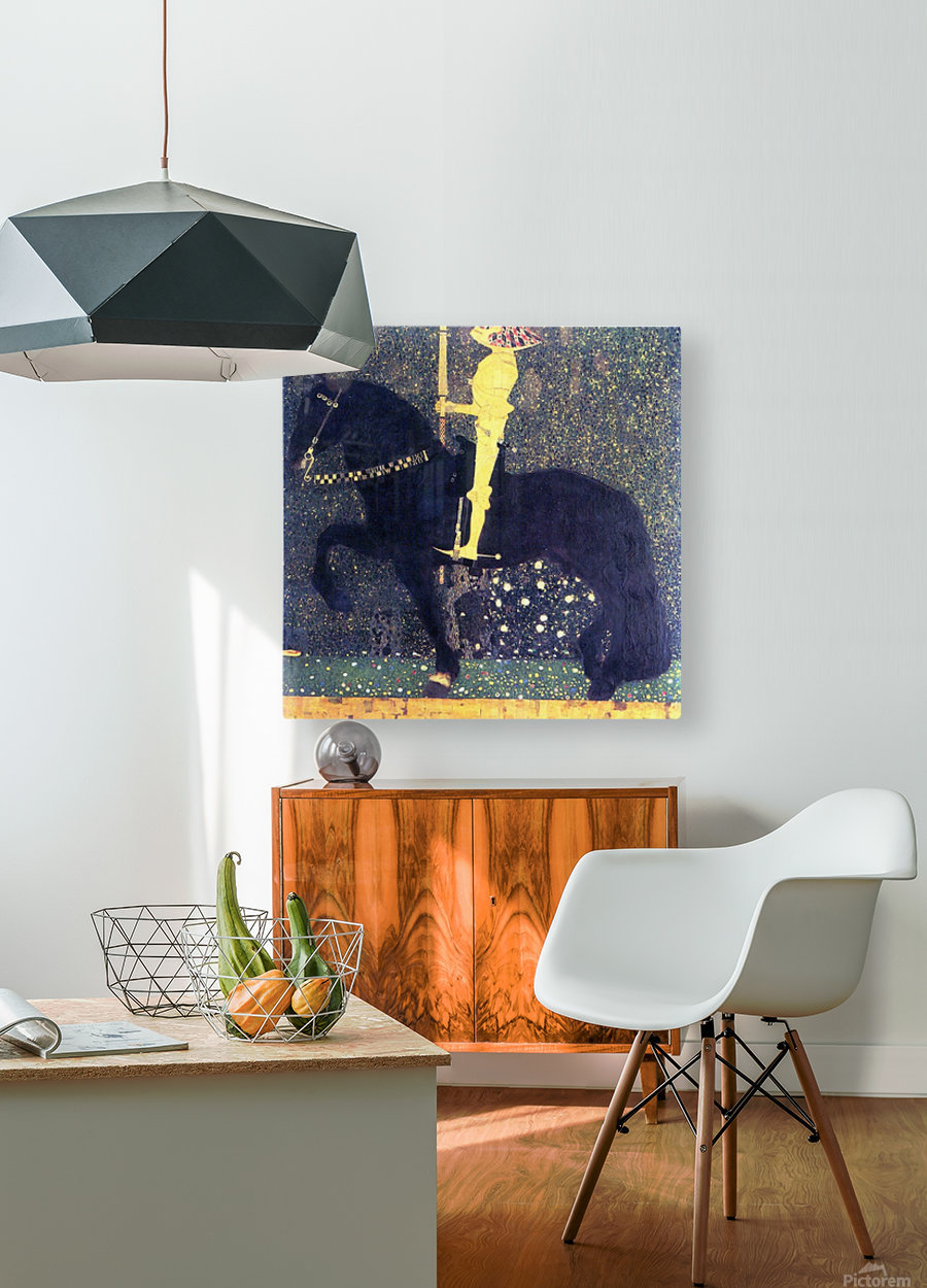The life of a struggle (The Golden Knights) by Klimt  HD Metal print with Floating Frame on Back