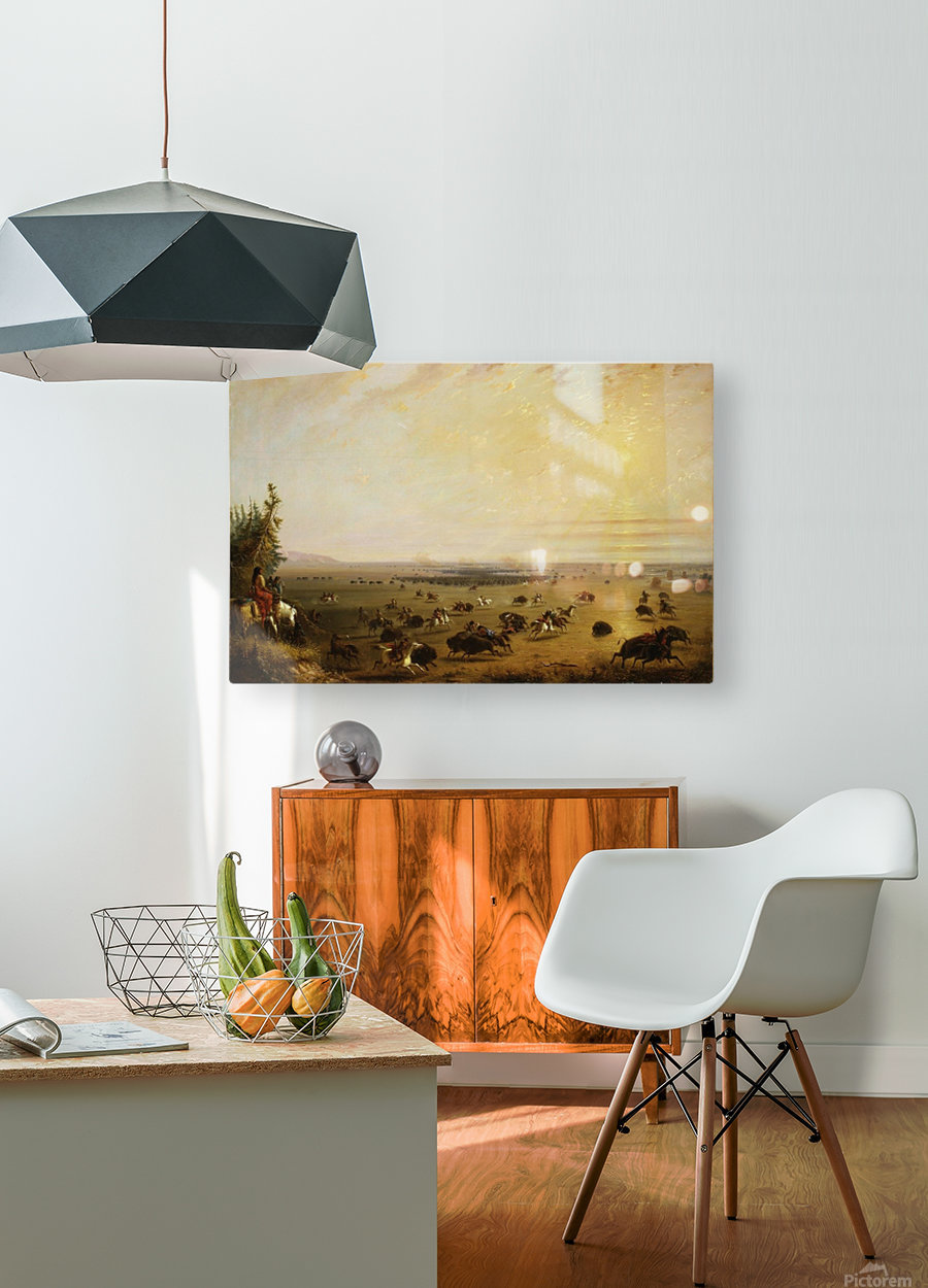 A surround  HD Metal print with Floating Frame on Back