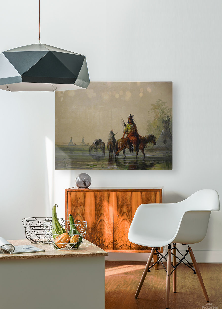 Outside an Indian village  HD Metal print with Floating Frame on Back