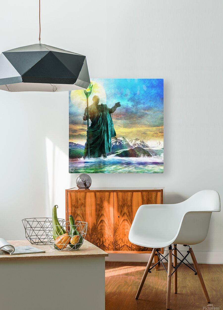 The Benevolent Light  HD Metal print with Floating Frame on Back
