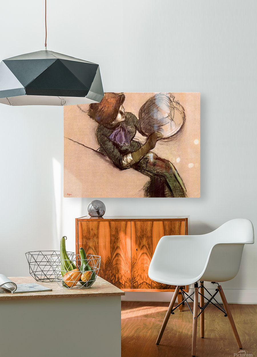 The milliner 2 by Degas  HD Metal print with Floating Frame on Back