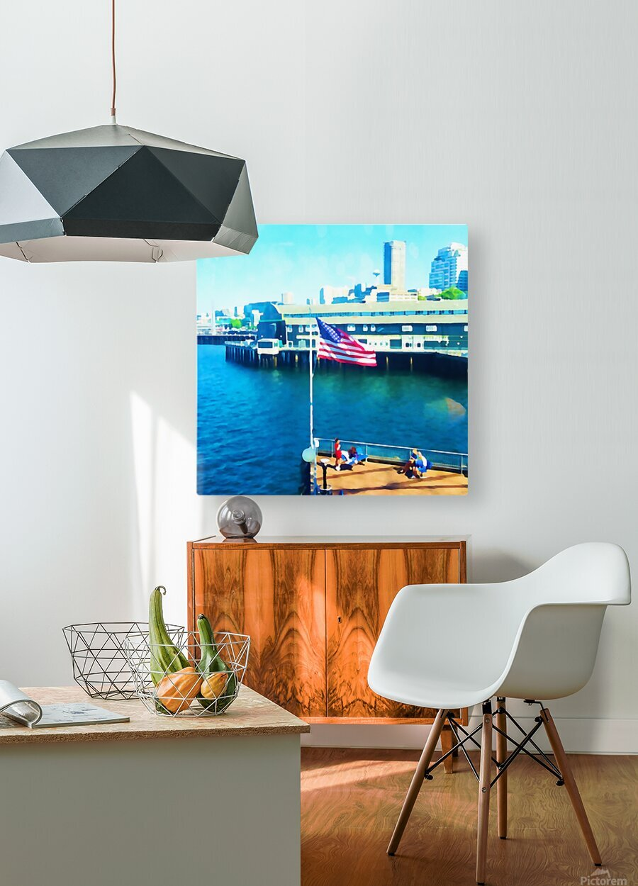 Seattle Morning  HD Metal print with Floating Frame on Back