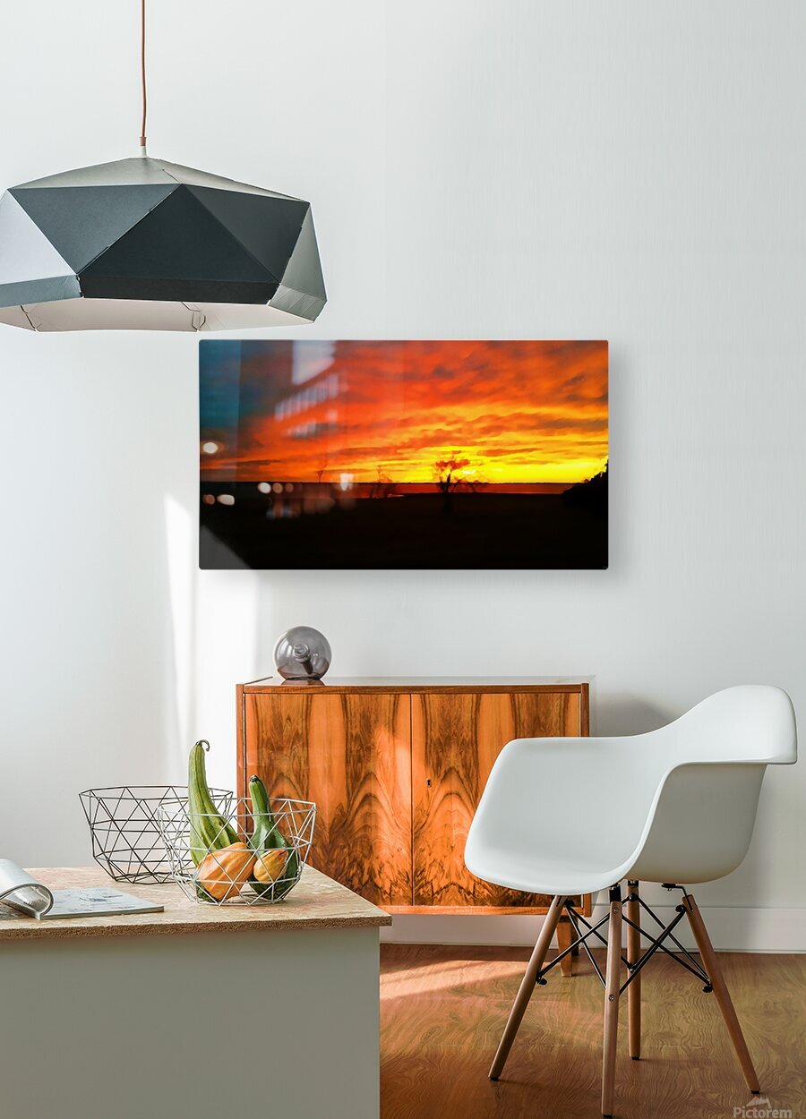 Evening Magic  HD Metal print with Floating Frame on Back