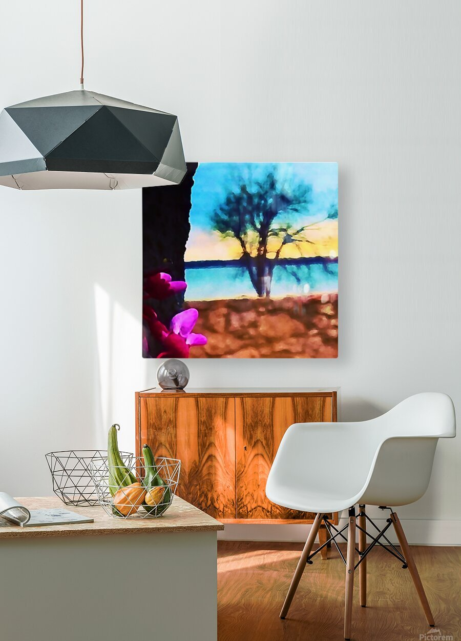 Two Seasons  HD Metal print with Floating Frame on Back
