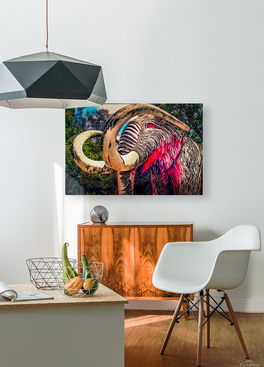 Wooly Mamoth  HD Metal print with Floating Frame on Back