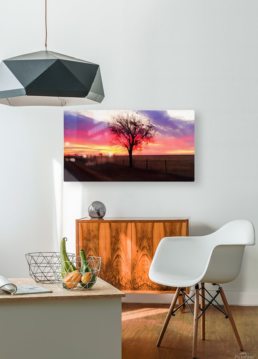 still morning  HD Metal print with Floating Frame on Back