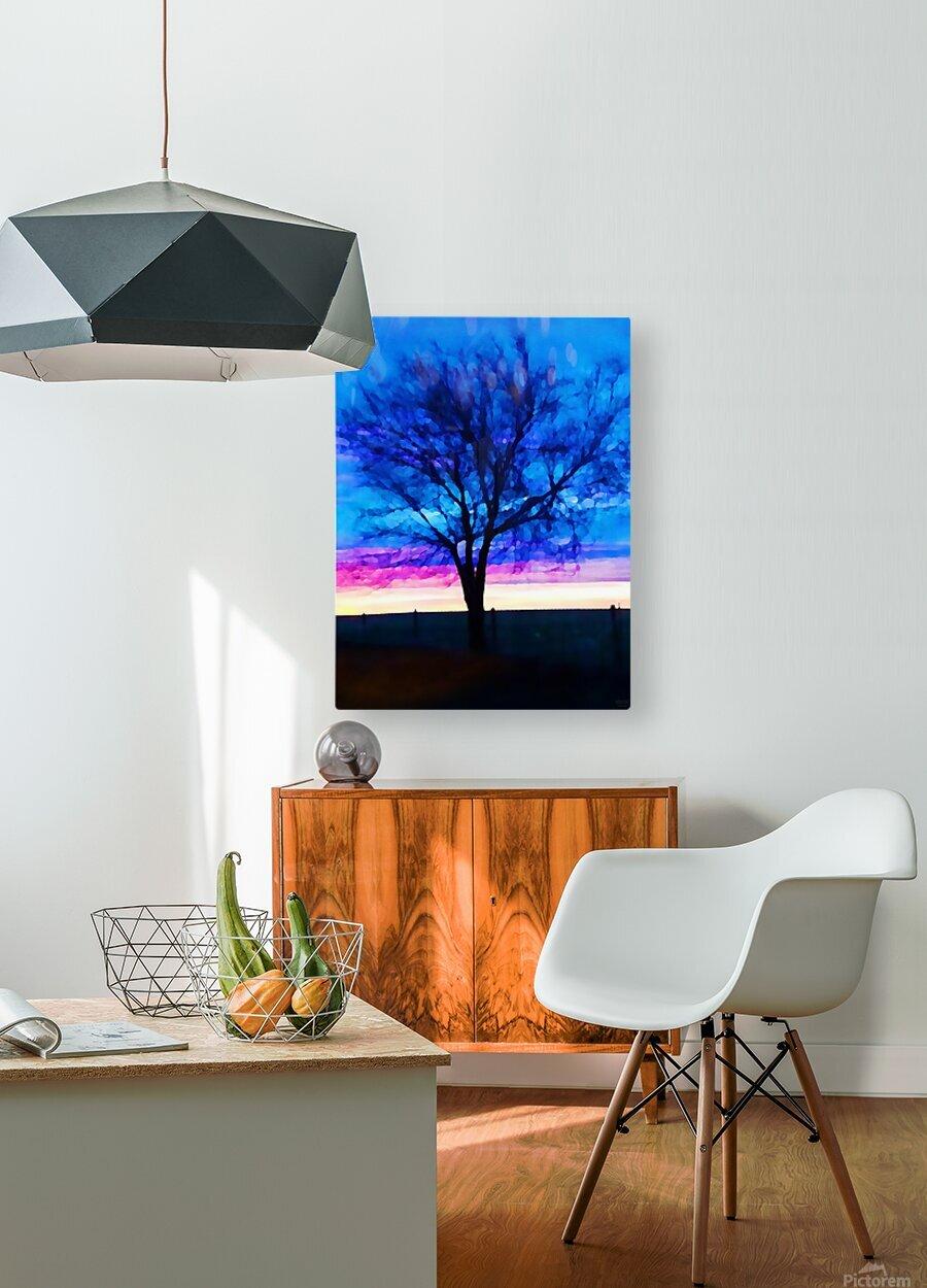 stillness  HD Metal print with Floating Frame on Back