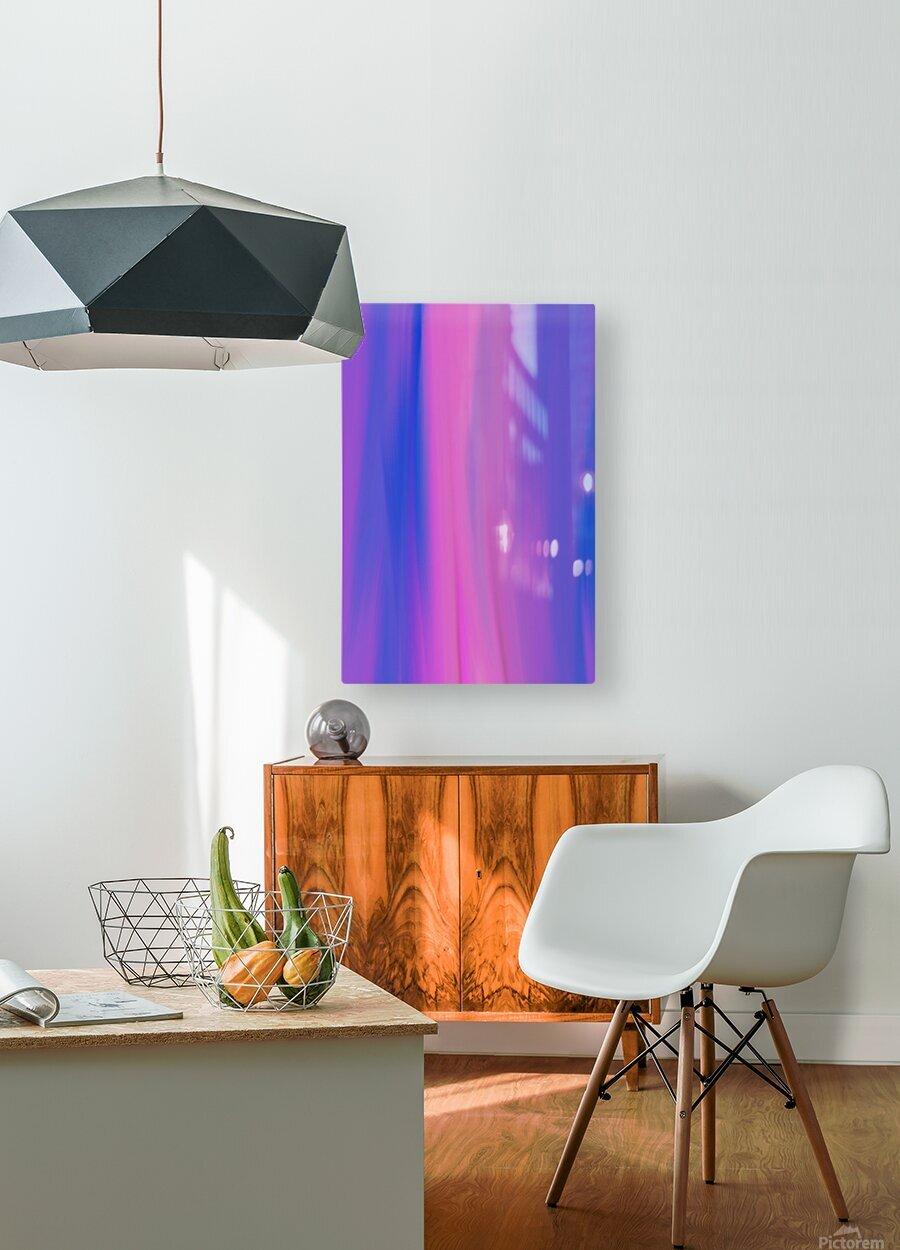 Purple Patterns  HD Metal print with Floating Frame on Back
