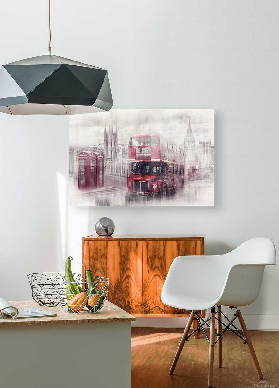 City-Art LONDON Westminster Collage II  HD Metal print with Floating Frame on Back