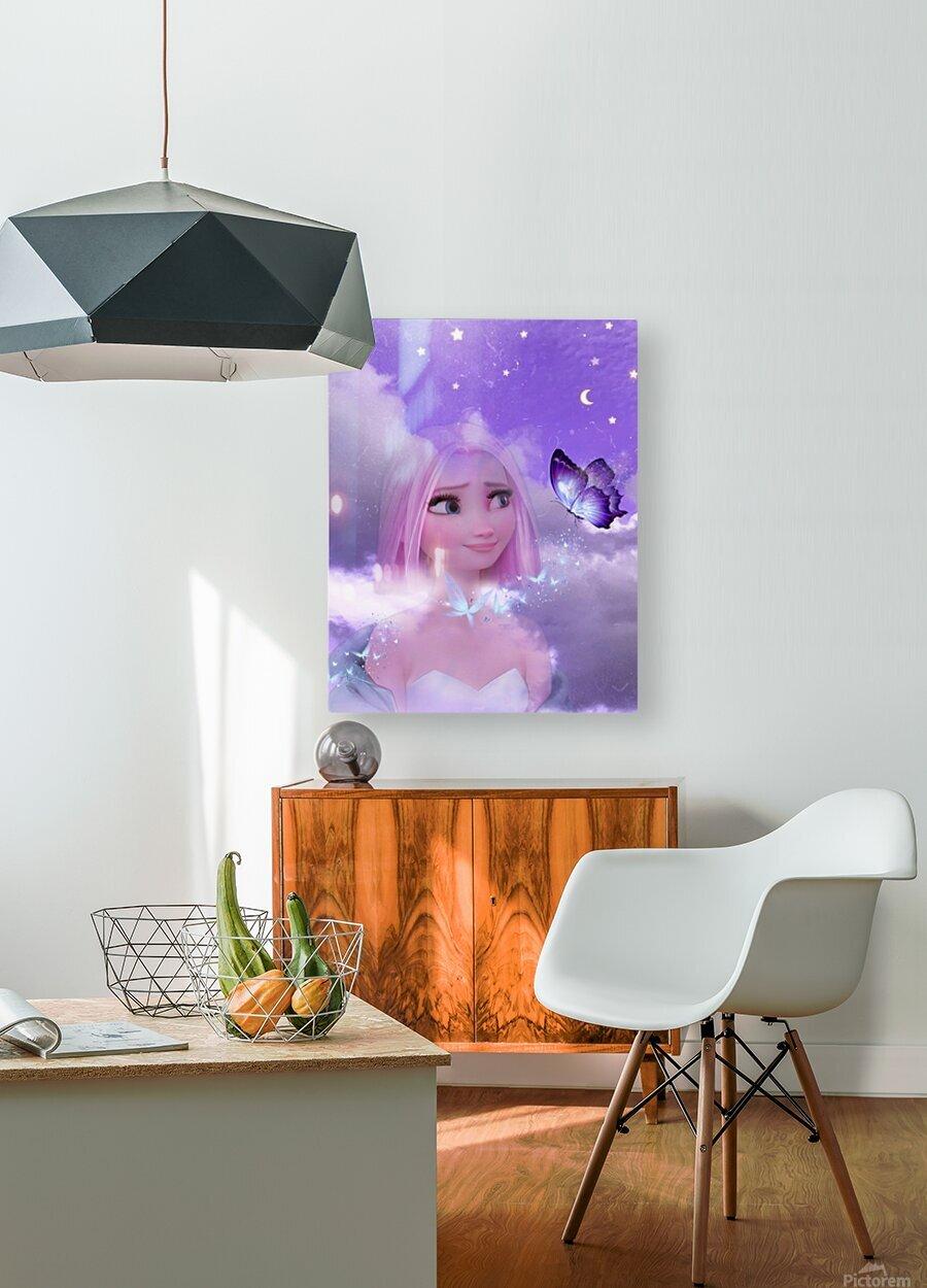 Disney land  HD Metal print with Floating Frame on Back