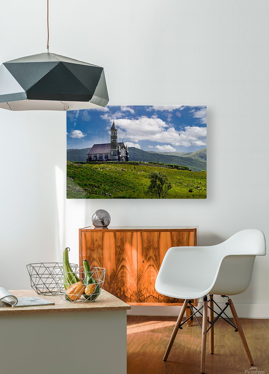 Church of the Sacred Heart  HD Metal print with Floating Frame on Back