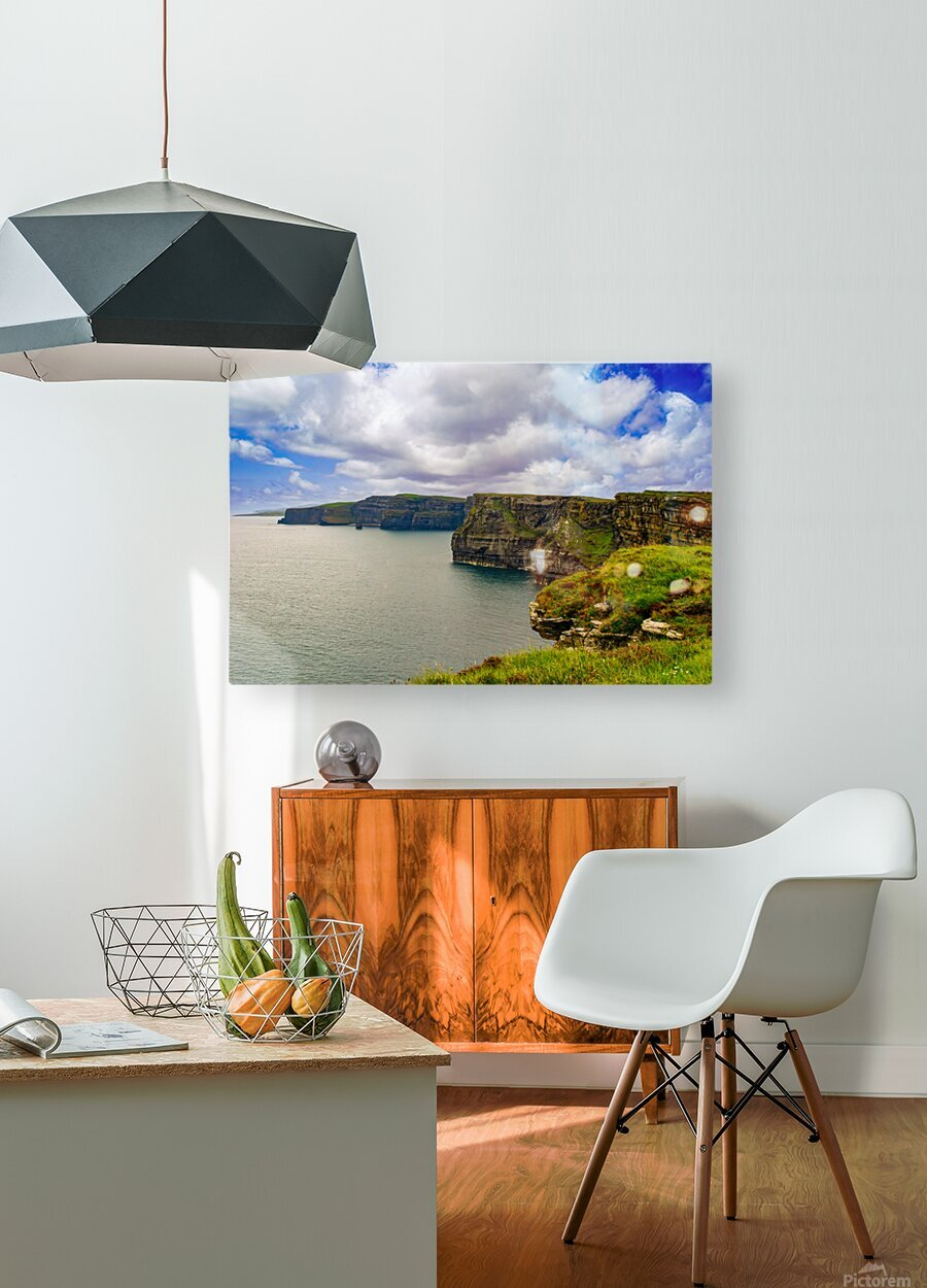 Cliffs Of Moher 5  HD Metal print with Floating Frame on Back