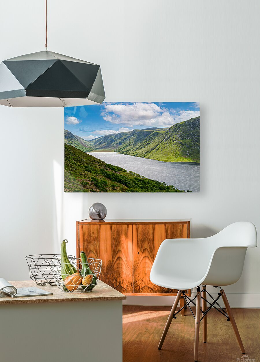 Lough Veagh  HD Metal print with Floating Frame on Back