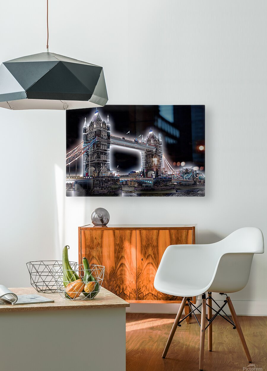 Tower Bridge  HD Metal print with Floating Frame on Back
